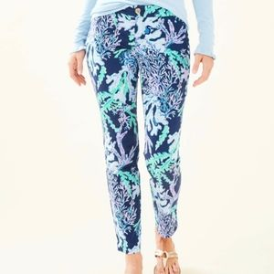 Size 00 Lilly Pulitzer Kelly Skinny Ankle Pant